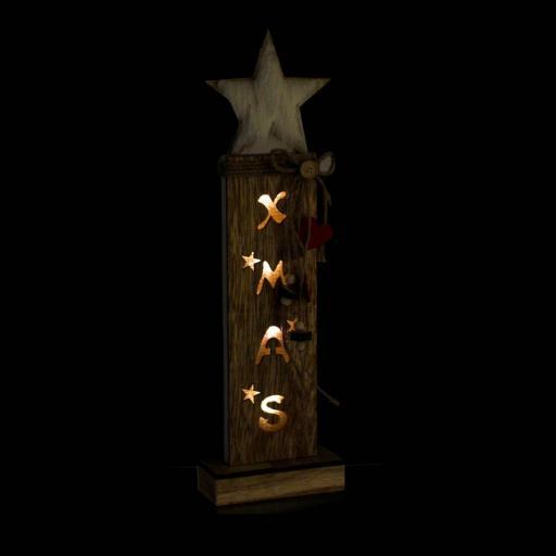 DECORACION LUMINOSA XMAS  LED MADERA 13X6X44 (ITEM INTERNATIONAL) [2]