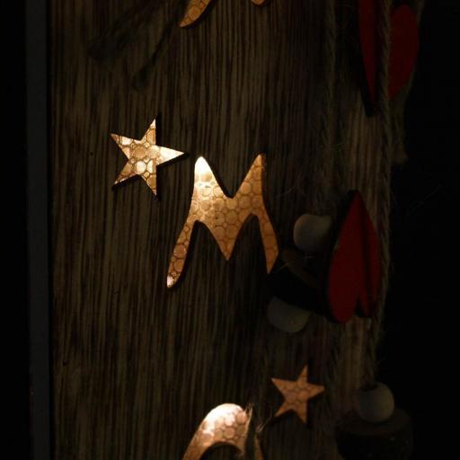 DECORACION LUMINOSA XMAS  LED MADERA 13X6X44 (ITEM INTERNATIONAL) [3]
