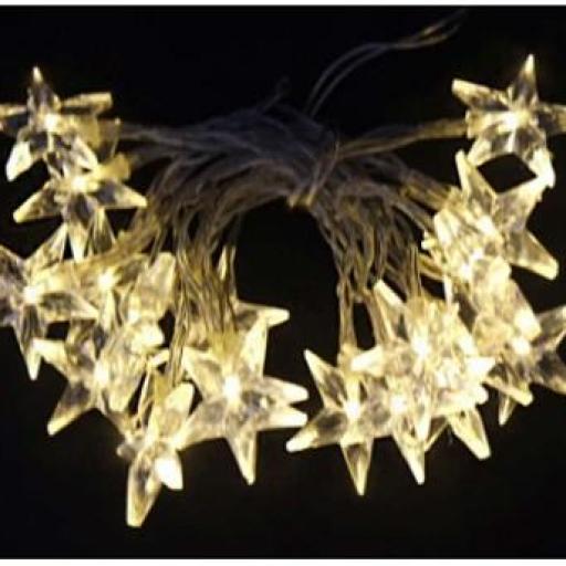 Guirnalda 10 luces led estrella 90 cm