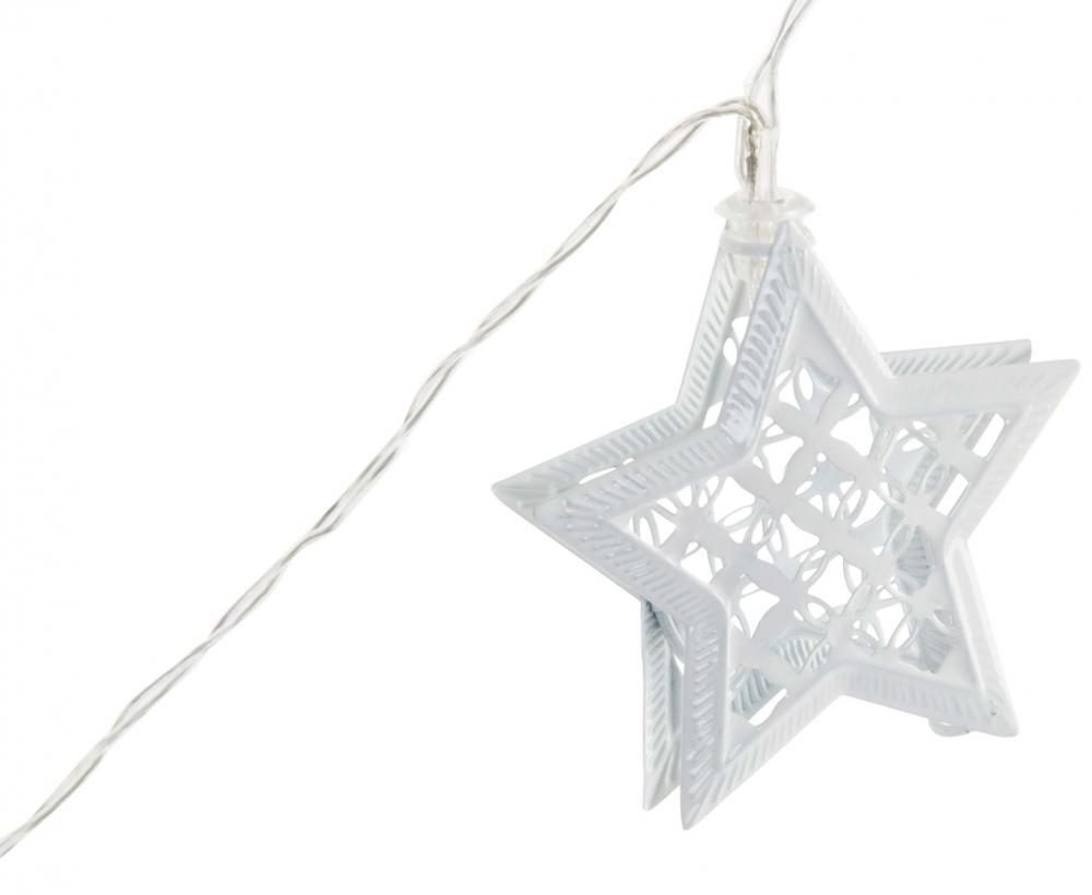 Guirnalda 10 luces led estrella metálica 175 cm