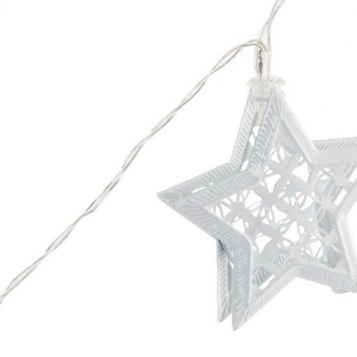 Guirnalda 10 luces led estrella metálica 175 cm [0]