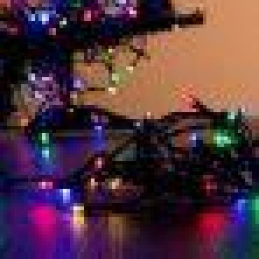 Guirnalda 48 luces multicolor 8 funciones.