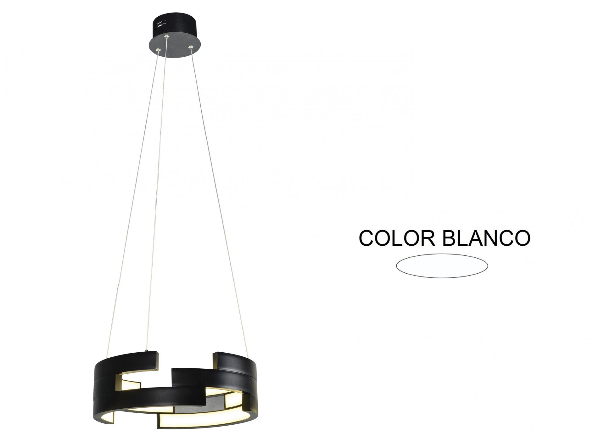 LAMPARA DE TECHO LED COLGANTE  ALUMINIO INTERIOR ACRILICO 78W 3000K 180º 230V BLANCO (F-BRIGTH)