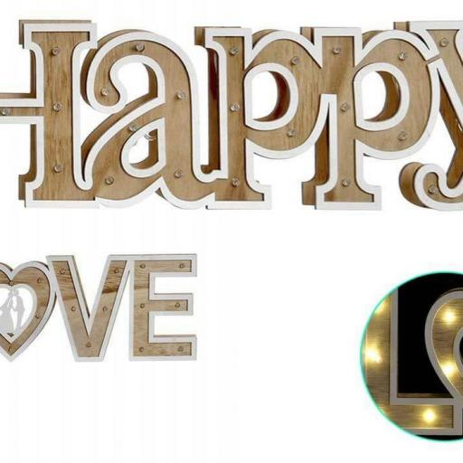 LAMPARA MADERA LOVE LED ( ITEM INTERNATIONAL) [1]