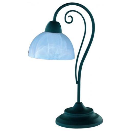 Lámpara de mesa Country E14 de metal y vidrio (Trio Lighting)