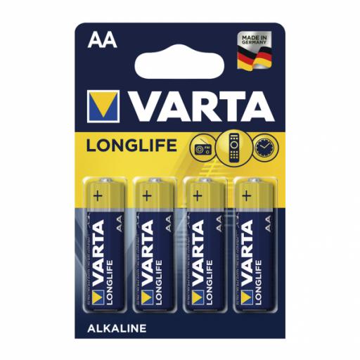 Blister 4 Pilas Aa/lr06 1,5 V Varta Alcalina Longlife