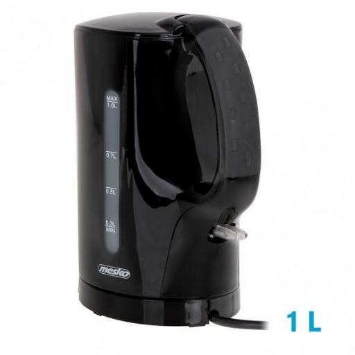 Hervidor De Agua Elect.clasico Negro 1l 900w  C/filtro Y Apagado Automatico