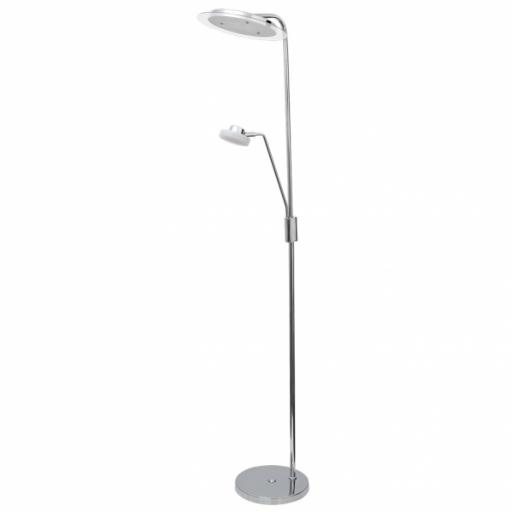 Lámpara de Pie De Salon Tantra 21+7w 1890lm+630lm Regulable  4000k 165x29 Cromo