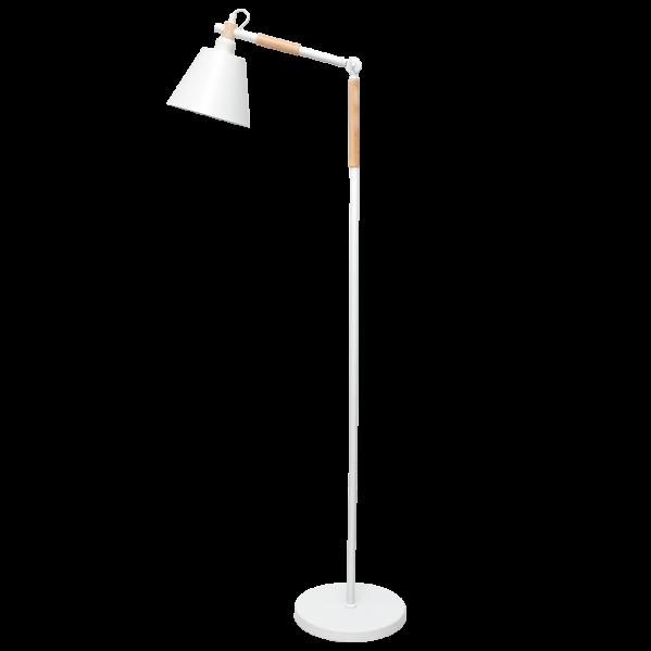 Lámpara de Pie Salon Bergen 1xe27 Blanco Estilo Nordico