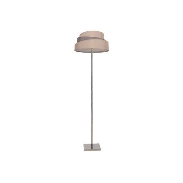 Lámpara de Pie Salon Colonia Gris/topo 1xe27