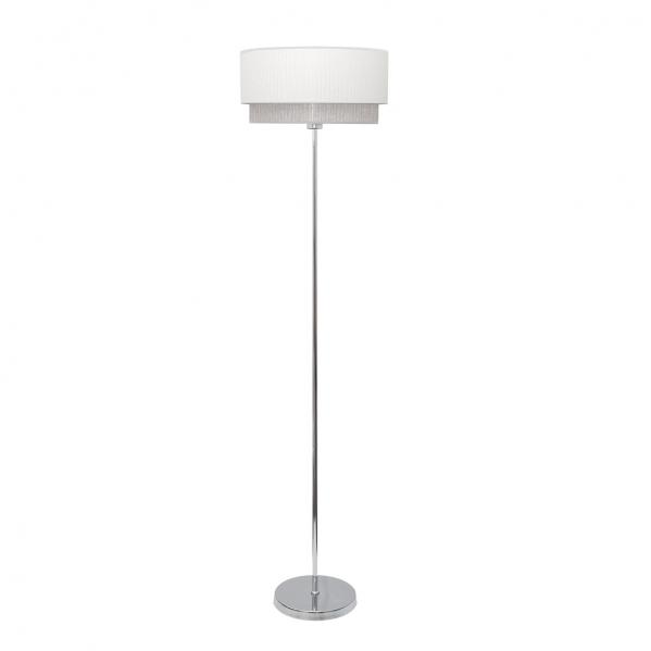 Lámpara de Pie Salon Kenya 1xe27 Blanco/gris 40d