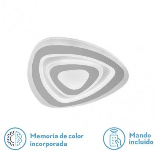 Plafon Cartagena 98w 3000-4000-6500k Blanco 7350lm 5x35x35 Cm Regulable,memoria Y C.remoto (FABRILAMP)