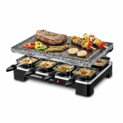 Plancha De Cocinar Electrica C/ Piedra Natural 8 Sartenes 36,5x23,5 Acero Inoxidable