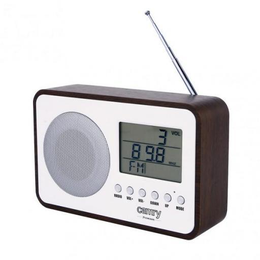Radio Fm Digital Reloj Despertador Antena Telesc. Sintonizador Autom. Y Manual Cable Usb (FABRILAMP)
