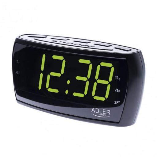 Radio Reloj Am/fm Pantalla Led 160x52mm Temporiz.cifra 4,8cm Alto Memoria Emisoras Alarma (FABRILAMP)