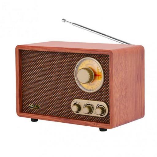 Radio Retro C/bluetooth Am/fm Ajuste Graves/agudos Conex. Inalambrica Telefono Tablet O Pc (FABRILAMP)