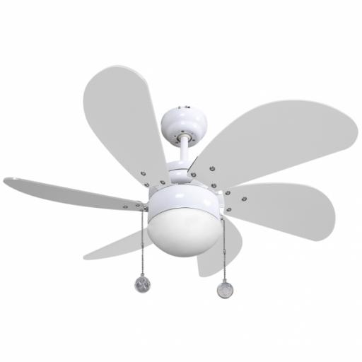 Ventilador Blanco Delfin 6 Aspas Blanc0 1xe27 41x65 D [0]