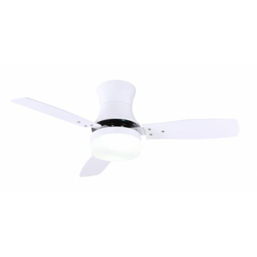 Ventilador Buran Blanco 2xe27 33,5x107d 3aspas Control Remoto