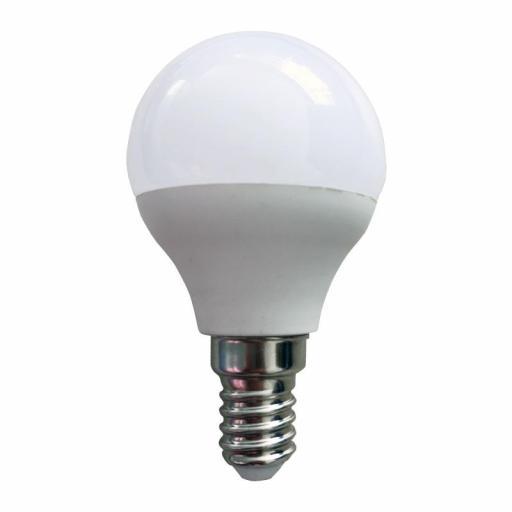 LÁMP. ESFÉRICA LED E14 3 W 230 LM 3000ºK