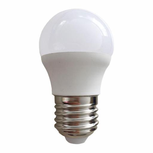LÁMP. ESFÉRICA LED E27 7 W 550 LM 6000ºK