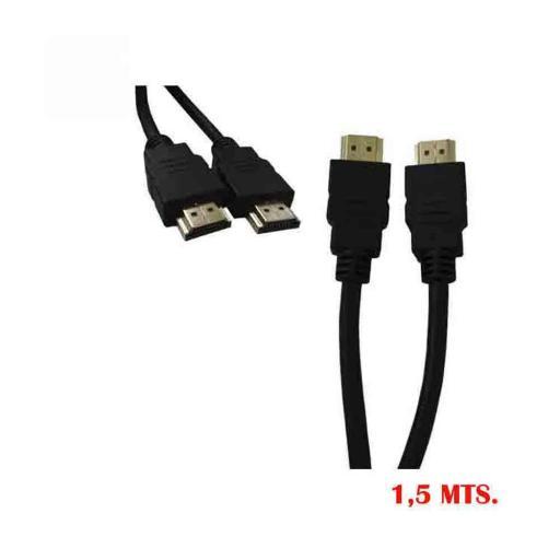 CONEXION HDMI ALTA VELOCIDAD 1.4 MACHO MACHO 1,5M
