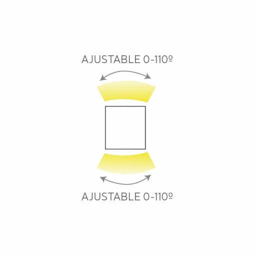 APLIQUE SUP. AJUSTABLE 2 X 5W. IP65 GRIS OSCURO [1]