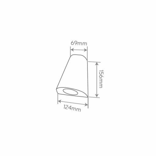 APLIQUE SUP. EXTERIOR GU10 IP54 GRIS OSCURO [1]