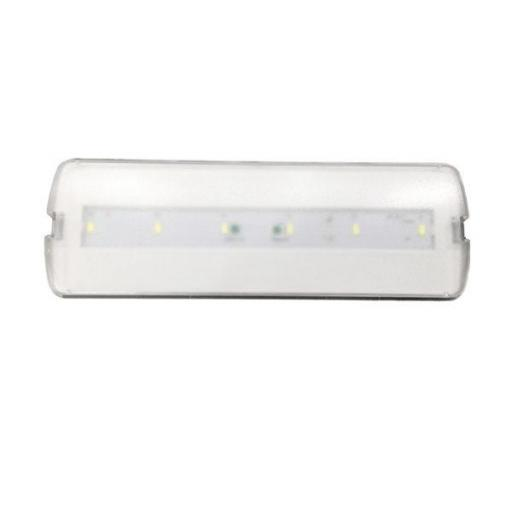 LUMINARIA LED EMERGENCIA 3W 200LM 120º 6000K NO PERMANENTE