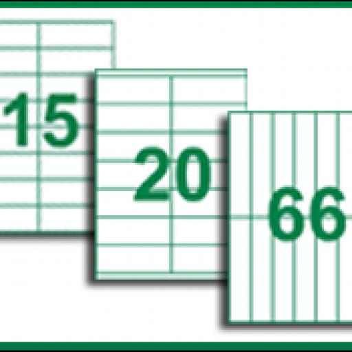 HOJAS ADHESIVAS ANONIMAS DIN-A4 EN CAJAS DE 500 HOJAS (varios modelos. Consultar)