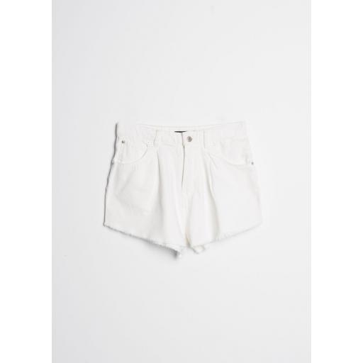 Short Denim Pinzas Blanco  [1]