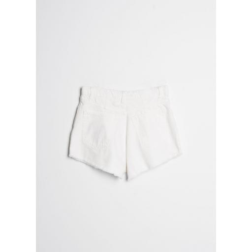 Short Denim Pinzas Blanco  [2]
