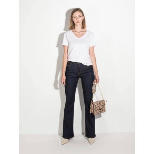 Jeans Skinny Flare High Rise