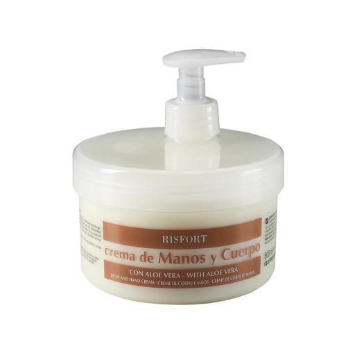 Crema de Manos y Cuerpo Risfort  Aloe Vera  500 gr