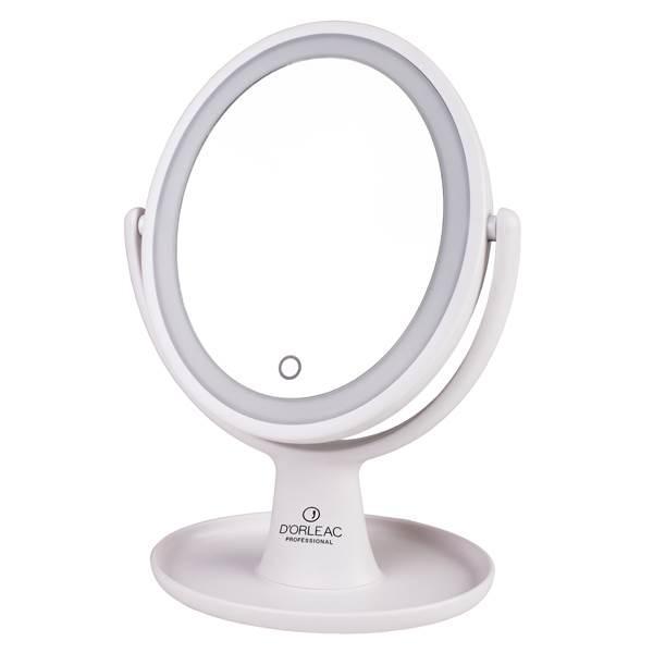 Espejo Dorleac con luz, 2 caras 5 aumentos