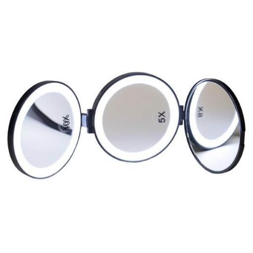 Espejo Pequeño 3 Caras Con Iluminación D'orleac [0]