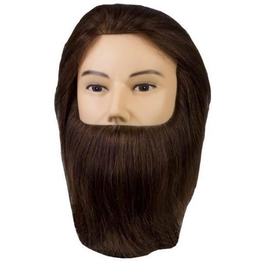 Cabeza Maniquí Steinhart Hombre Barba Bigote 30 cm