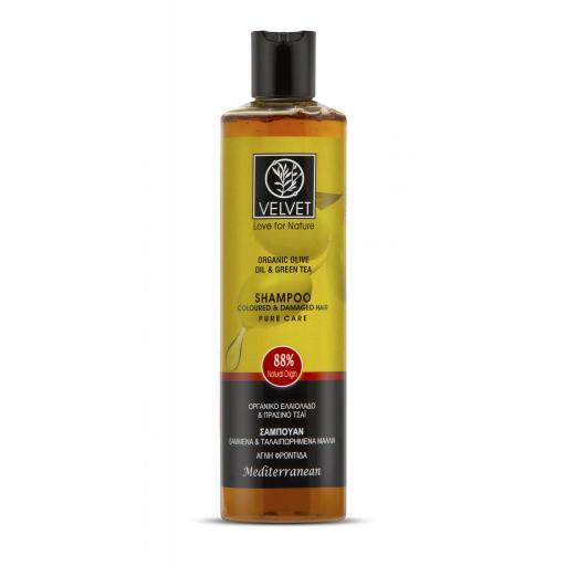 Champú Velvet de aceite de oliva y té verde para cabello teñido y dañado 300ml