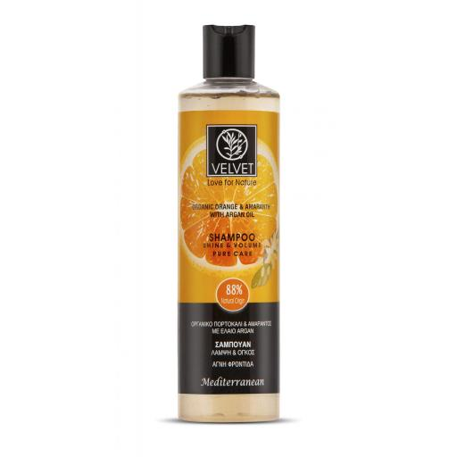 Champú Velvet de Naranja, Amaranto y Argán, Brillo y Volumen 300 ml