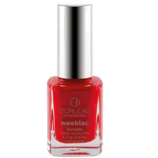 Esmalte WEEKLAC Nº10 Rojo Nacar