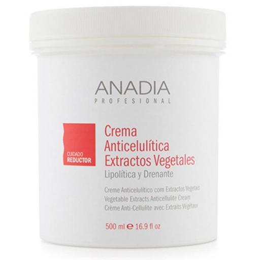 Crema Anadia Anticelulítica Extractos Vegetales 500 ml