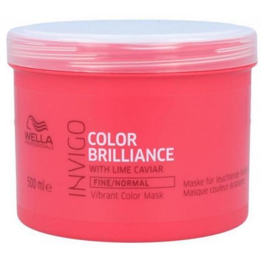Mascarilla Wella Invigo Color Brilliance Cabellos Finos 500 ml