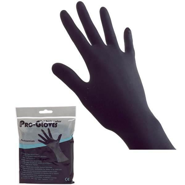 Guantes latex negros M ( b/2uds )