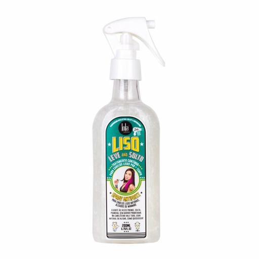 Liso, leve e solto spray antifrizz 200ml