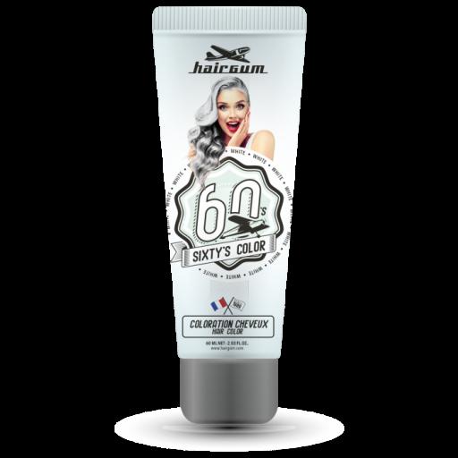 Coloración Hairgum Sixty's Color White  60ml
