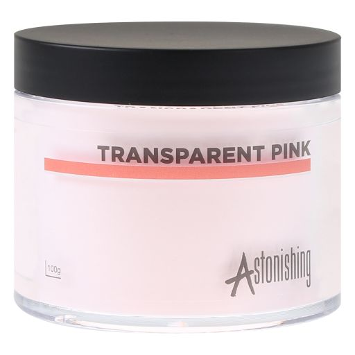 Polvos Acrylic Transparent Pink 100 gr Astonishing