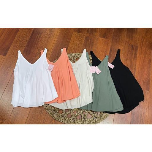 Blusa Atenas en Blanco, Naranja, Verde y Negro [2]