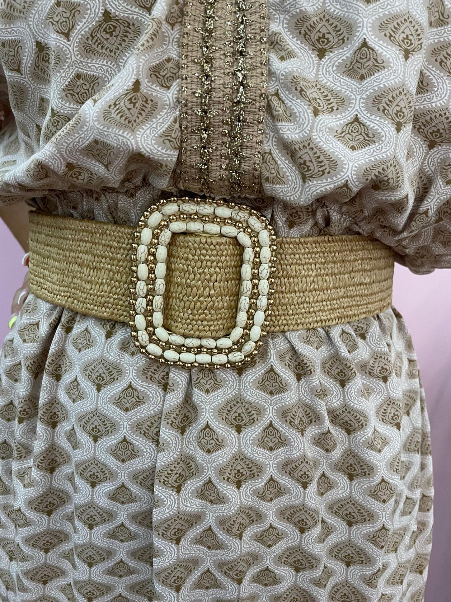 Cinturón Bangkok en Camel y Rosa