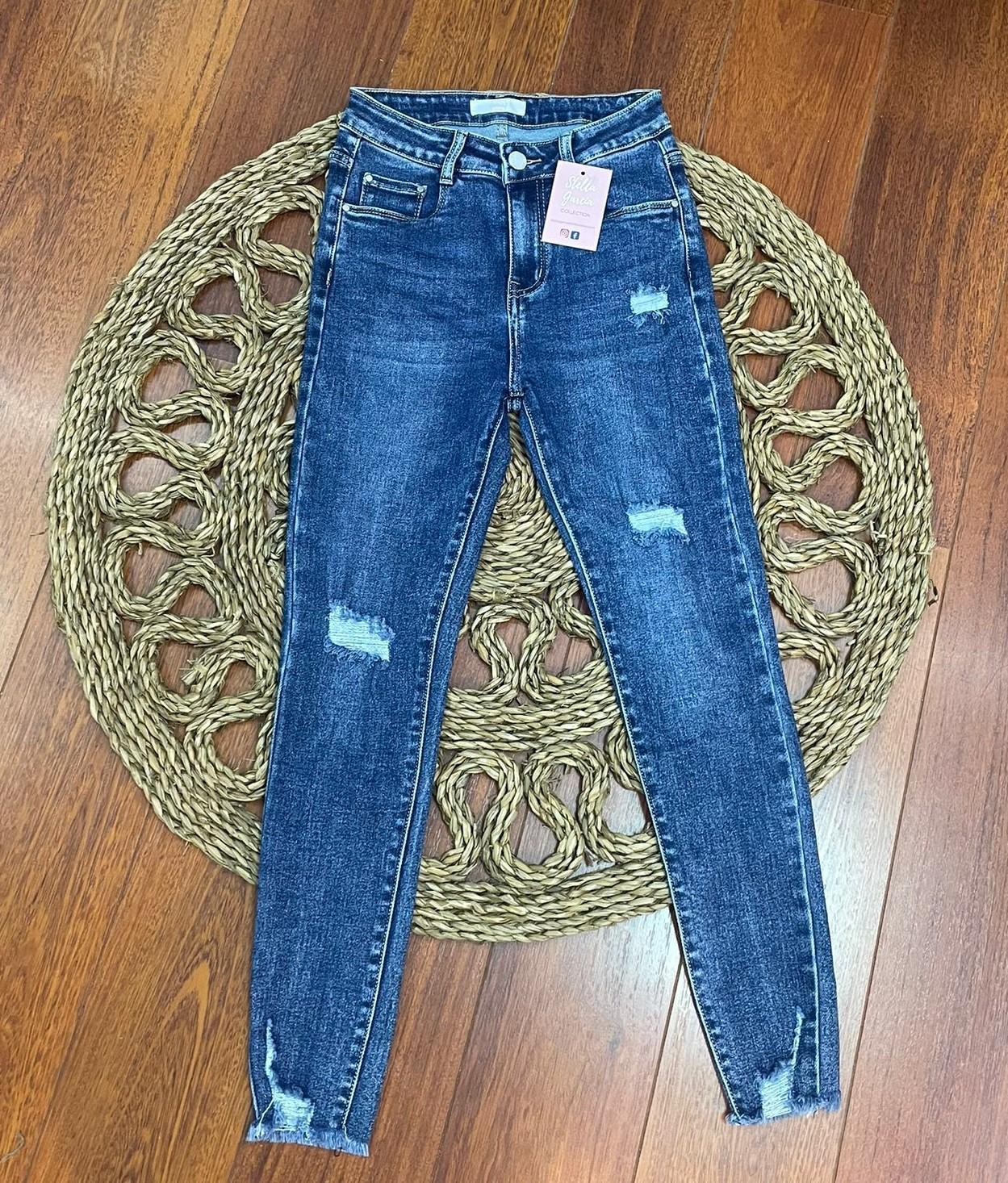Jeans Azules Rasgados Tallas 42 a 46