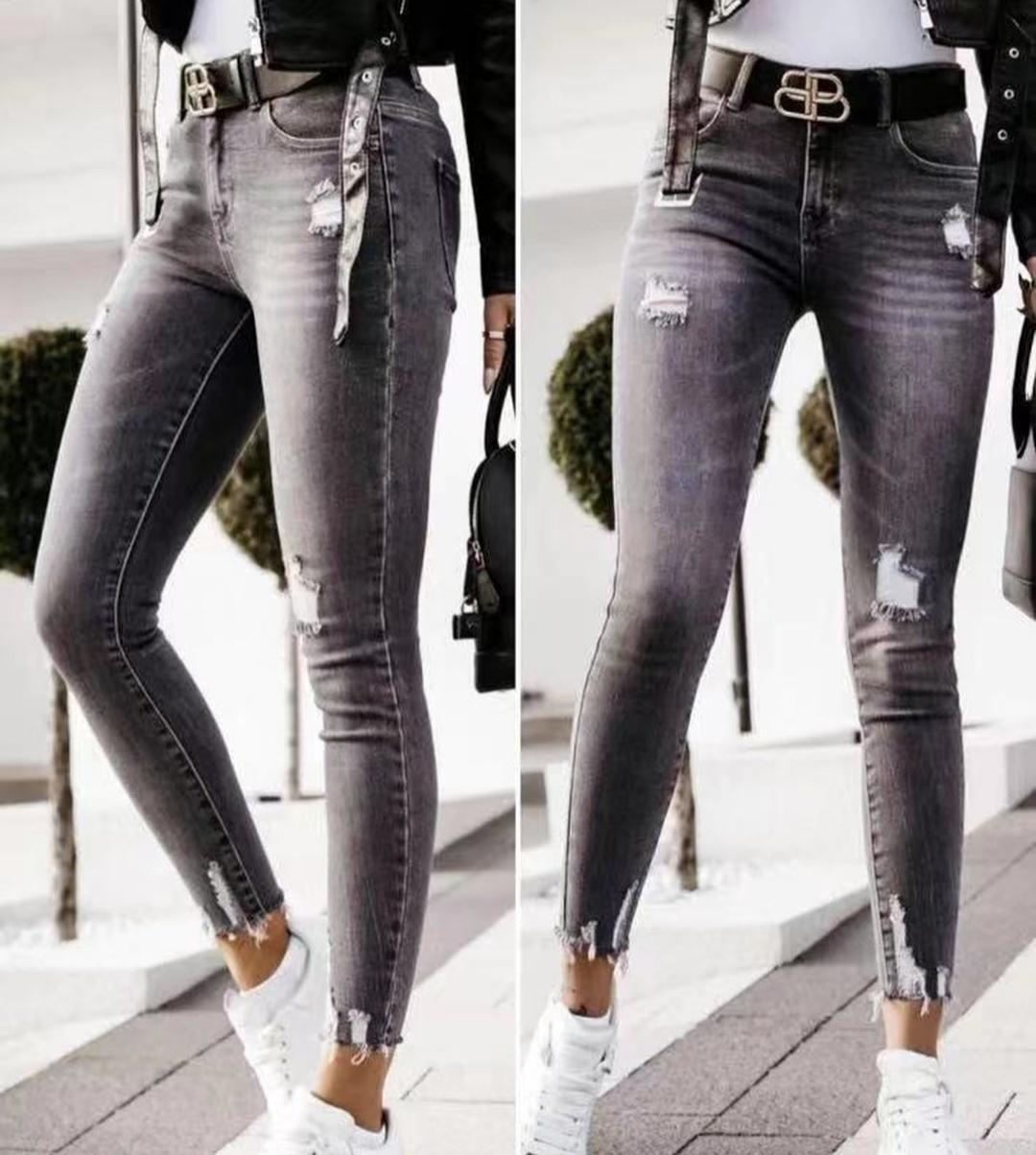 Jeans Negros Rasgados desde 36 a 46