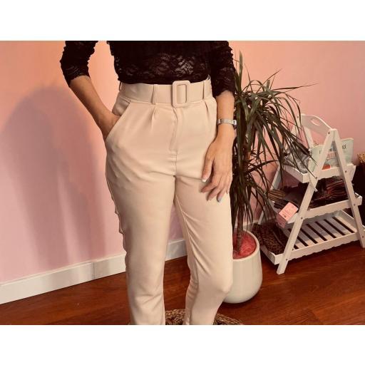 Pantalón en Negro y Beige de S a XL